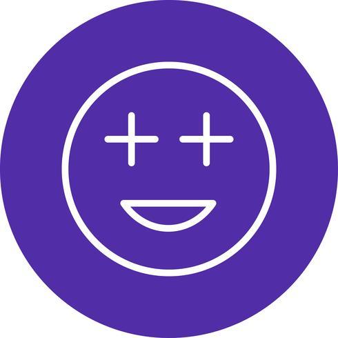 Ícone de vetor de Emoji positivo