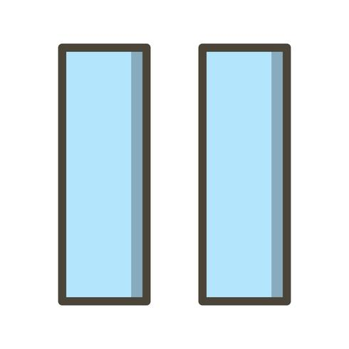 Icono de vector de pausa