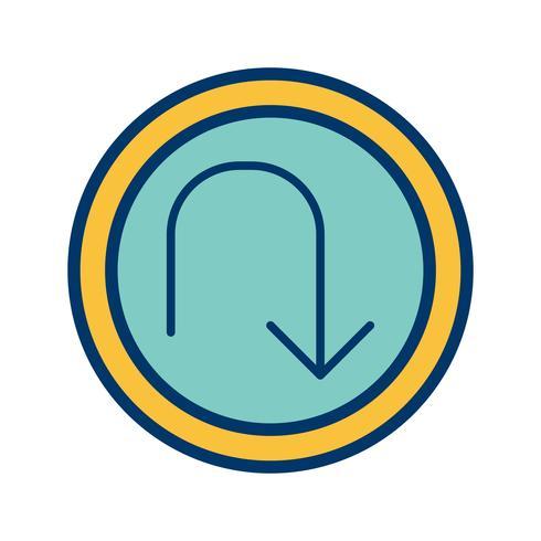 Vector U-turn Icon
