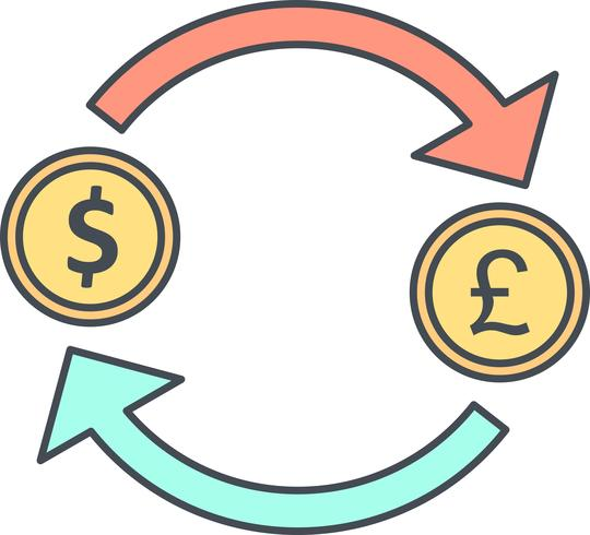 Exchange Pound With Dollar Vector Icon
