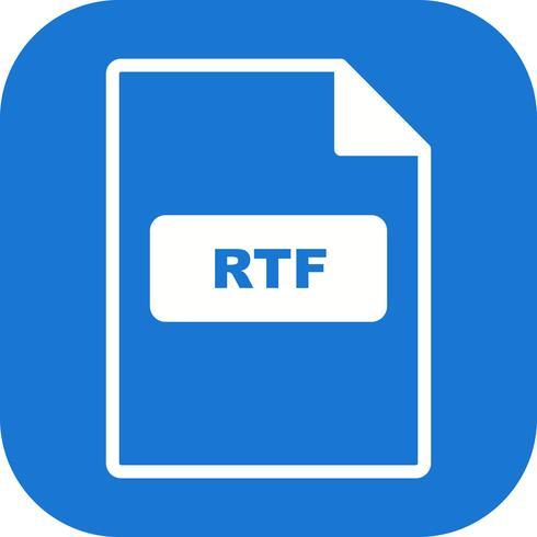 Ícone de vetor de RTF