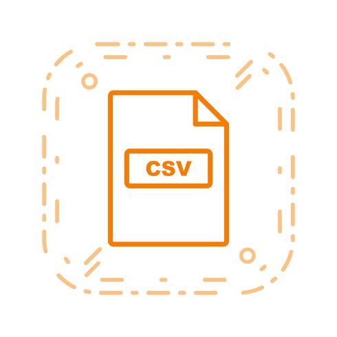 Ícone de vetor de CSV