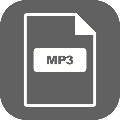 Ícone de vetor de MP3