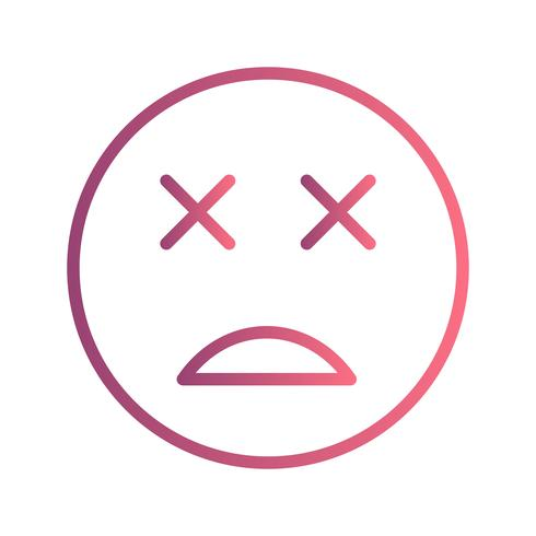 död emoji vektorikonen