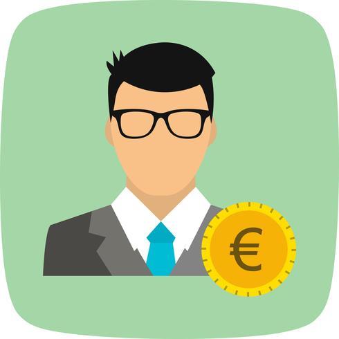 Euro com ícone de vetor de homem