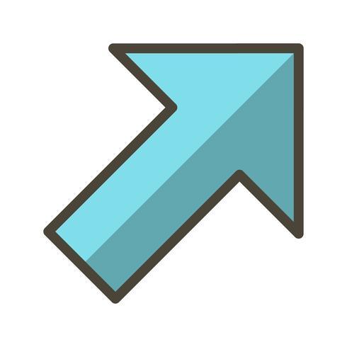 Höger upp vektor ikon