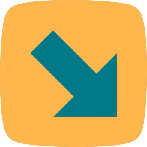 Icono de Vector de derecha abajo