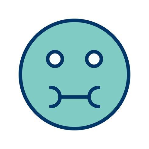 Ícone de vetor emoji doente