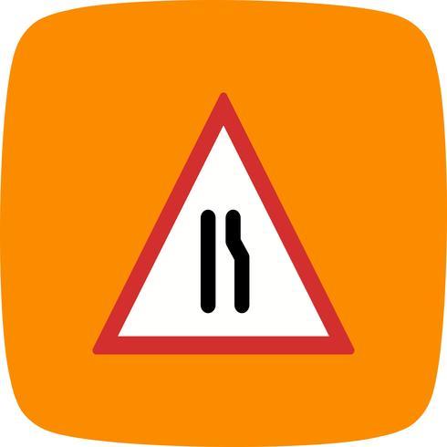 Vector Dual Carriageway ahead pictogram