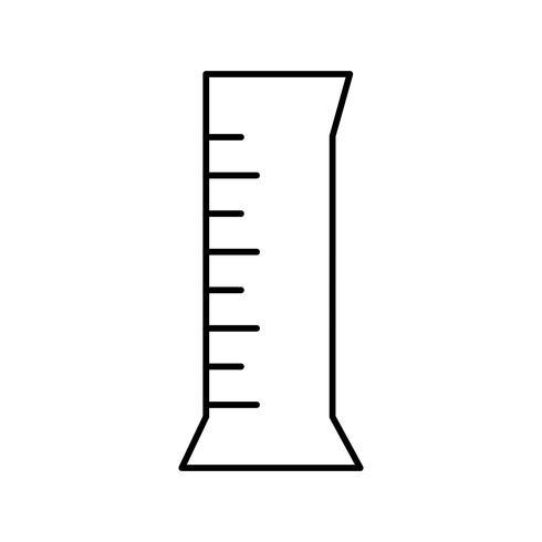 Ícone de vetor de frasco de cilindro