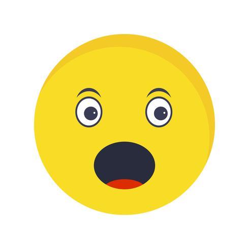Überrascht Emoji Vector Icon