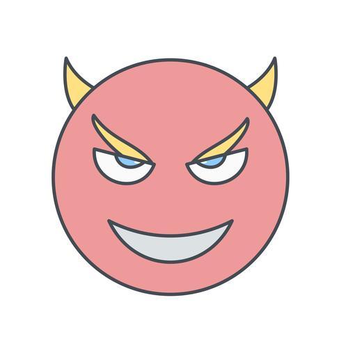 duivel emoji vector pictogram