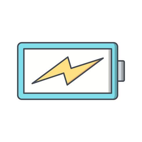 Ícone de vetor de bateria de carregamento