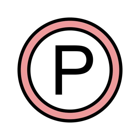 Vector estacionamento ícone