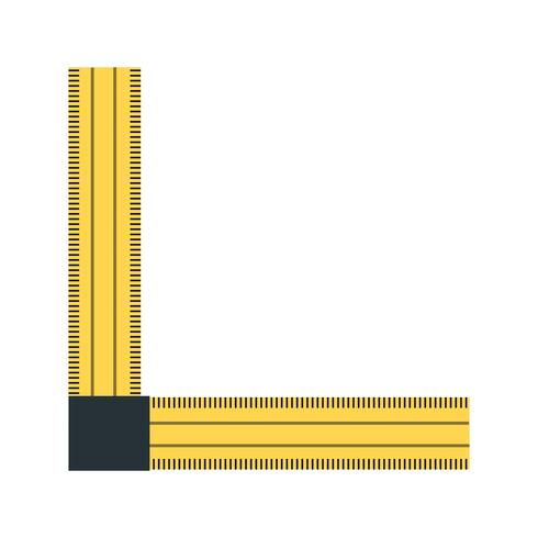 Hoek liniaal Vector Icon