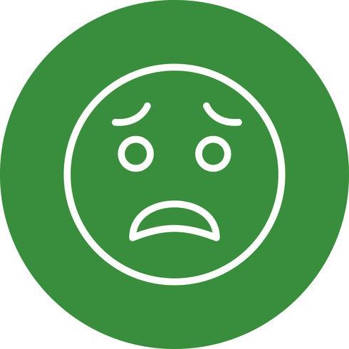 Ícone de vetor emoji com medo