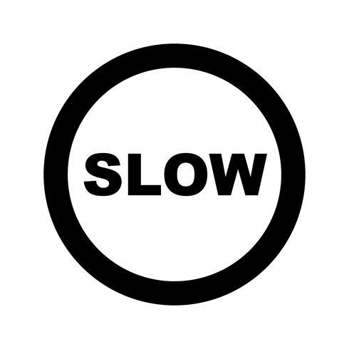 Vector lento ícone