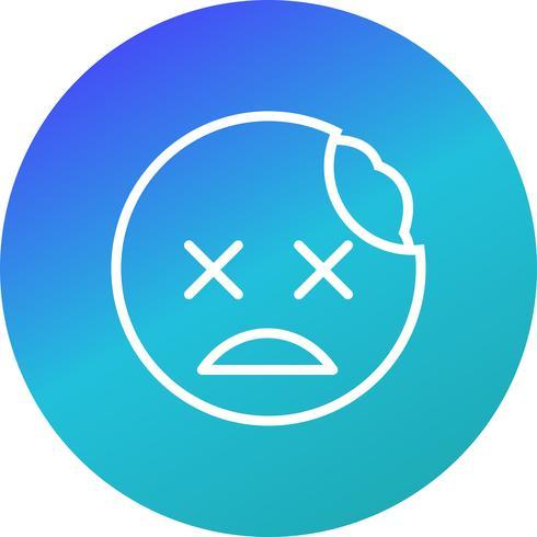 icona di vettore di zombie emoji