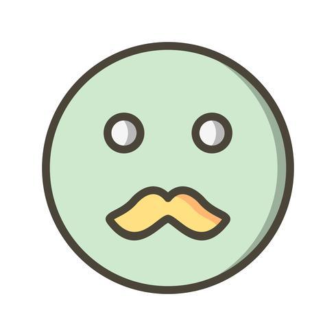 Bigode Emoji Vector ícone