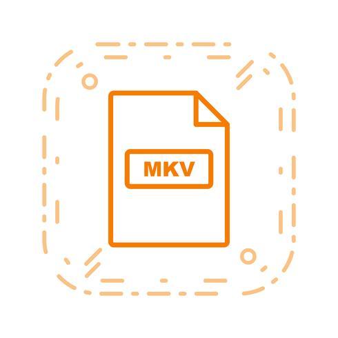 ícone de vetor mkv