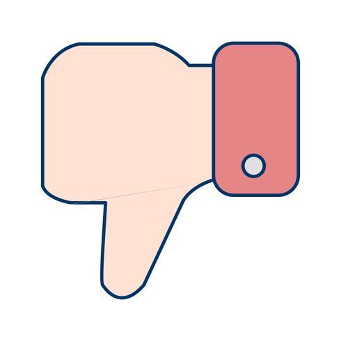 Não gosto de vetor ícone