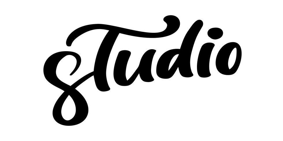 Estudio dibujado mano de la palabra de las letras del vector. Cita de caligrafía manuscrita moderna elegante en inglés. Ilustración de tinta Cartel de tipografía sobre fondo blanco. Para tarjetas, invitaciones, estampados etc. vector