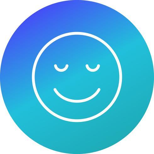Icono de Vector de calma Emoji