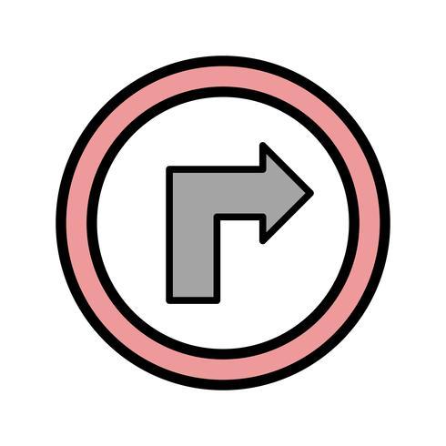 Vector Girare verso l'icona destra