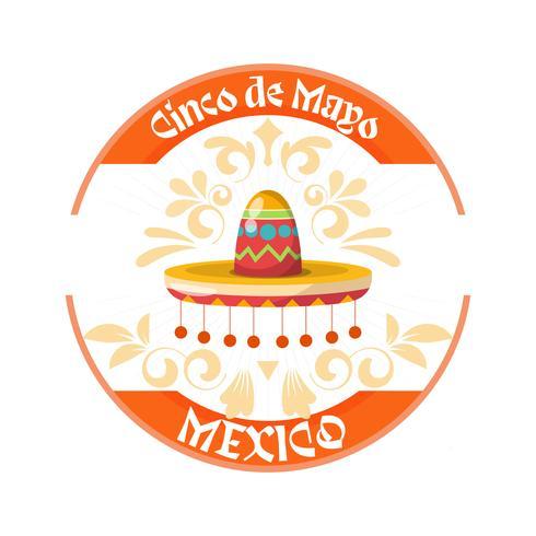 Cinco de Mayo hatt bakgrund med prydnad