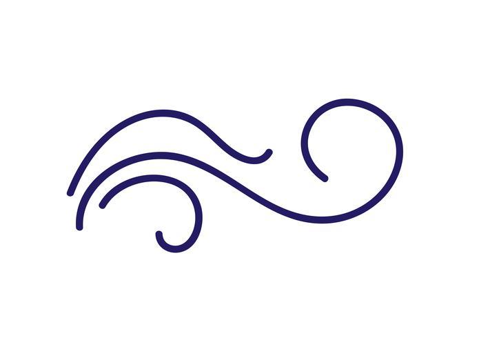 Diviseur de vecteur s'épanouir de folklore scandinave Monoline calligraphy. Élément de design pour mariage et Saint Valentin, carte de voeux d'anniversaire