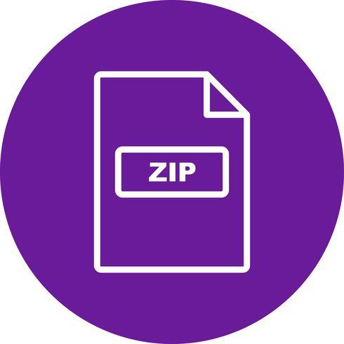 Ícone de vetor ZIP