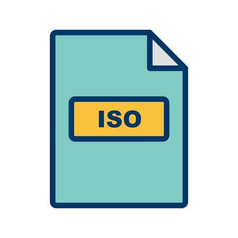 Icône de vecteur ISO
