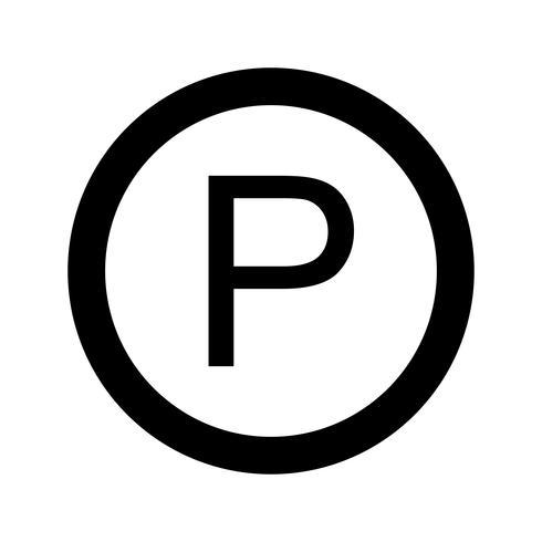 Icône de stationnement de vecteur
