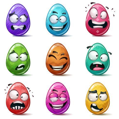 Felices pascuas, set huevo de color.