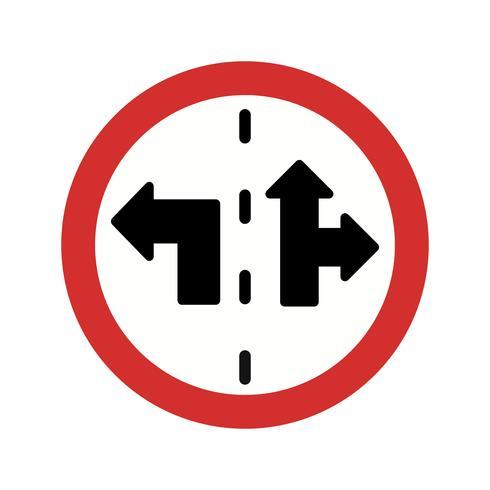 Ícone de sinal de controle de faixa de vetor