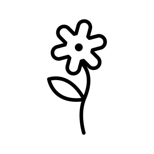 Icona di vettore del fiore