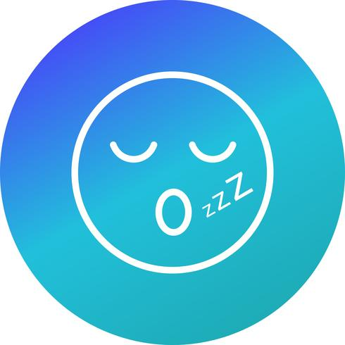 sömn emoji vektorikonen