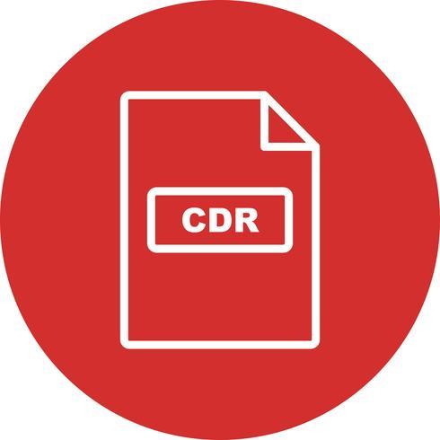 CDR Vector Icon