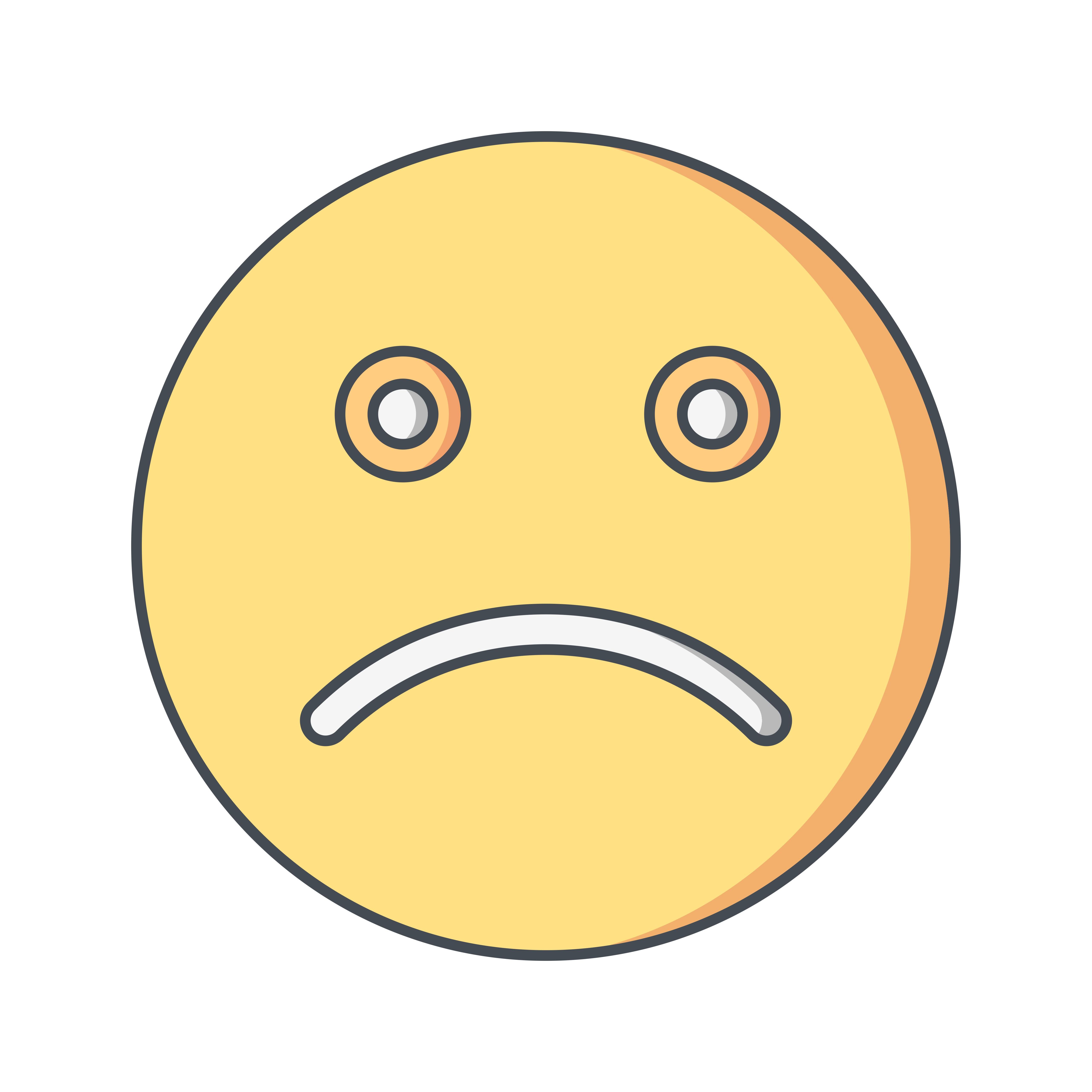 Sad Emoticon Vector Icon - Download Free Vectors, Clipart ...