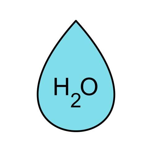 Icono de Vector de H2O