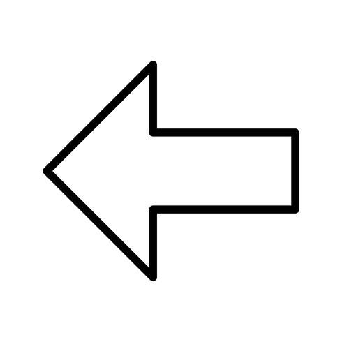 Vänster vektor ikon