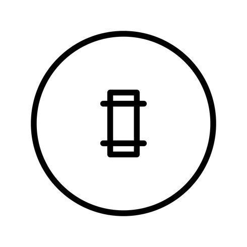 Icono de Vector de tierra de Cricket