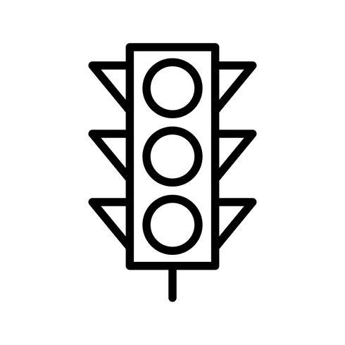 Icône de signaux lumineux vectoriels