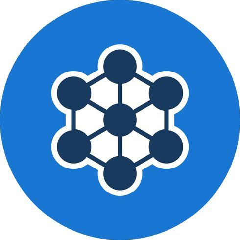 Icono de vector de molécula