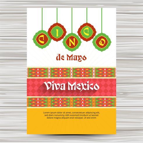 Cinco de Mayo Flyer mit Verzierungen