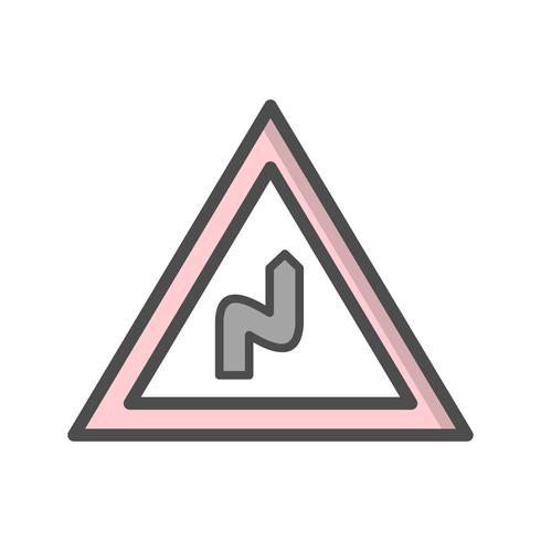 Vektor Doppelbiegung nach rechts Symbol