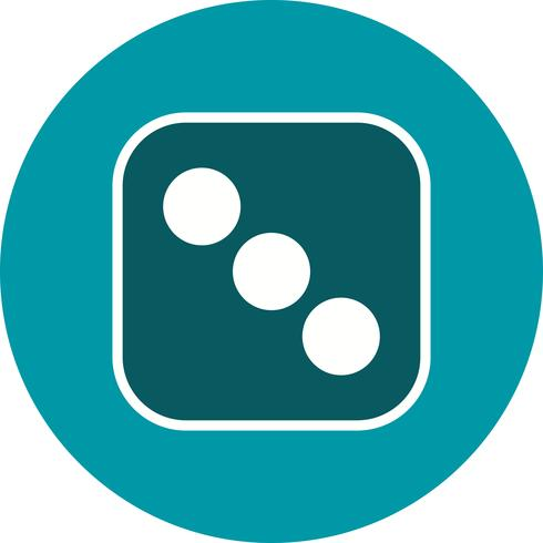 Würfel drei Vektor Icon