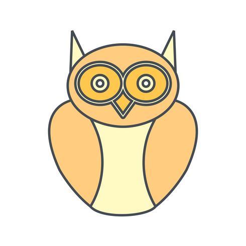 Diplom-Eule-Vektor-Symbol