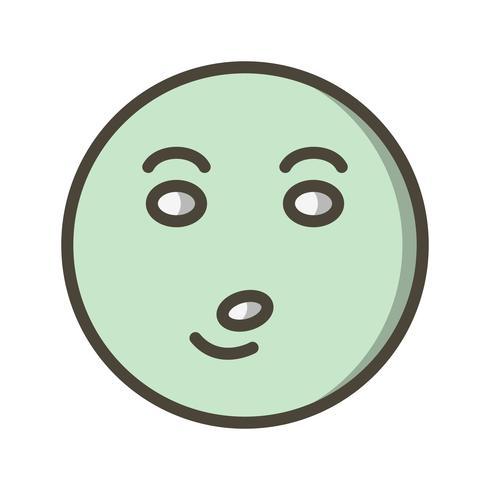 Pfeife Emoji-Vektor-Symbol