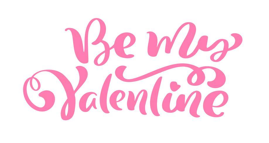 Frase de caligrafia ser meu namorado. Vector dia dos namorados mão desenhada letras. Cartão do Valentim do projeto da garatuja do esboço do feriado do coração. decoração de amor para web, casamento e impressão. Ilustração isolada